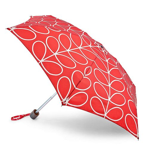 Orla Kiely by Fulton Tiny 2 Umbrella - Large Red Linear Leaf